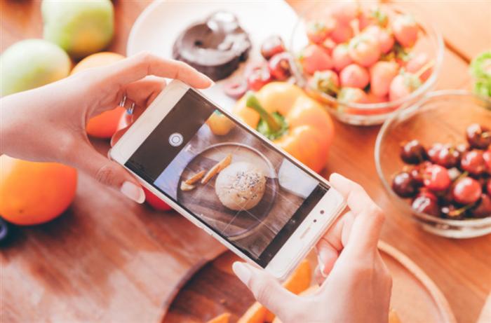 食事管理の第一歩は食事の撮影