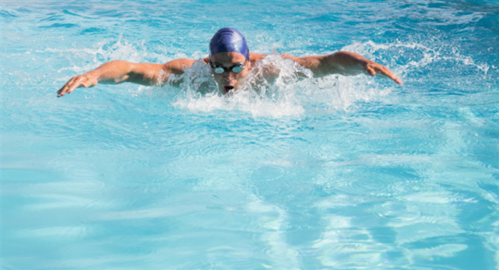 スプリントを繰り返す無酸素運動の水泳