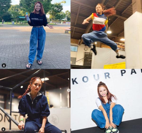 私服とトレーニングウェアの垣根はなし!いつでも動ける格好が莉咲子さん流。Instagramより。